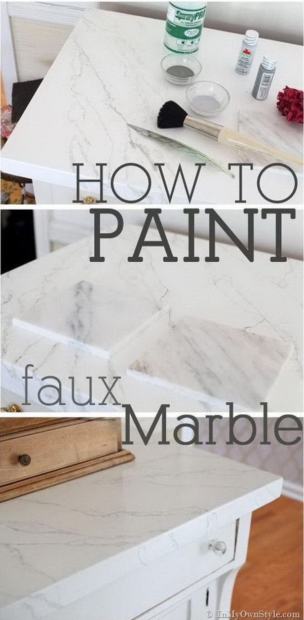 Dreaming of Marble, but It isn't in the Budget? Paint your own!