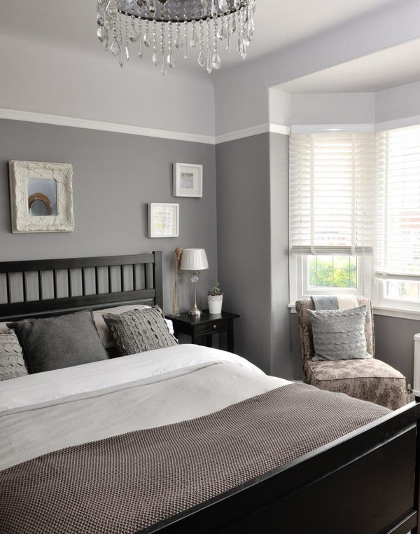 great bedroom colors. a small strip of light color on top darker shade will still add great bedroom colors m
