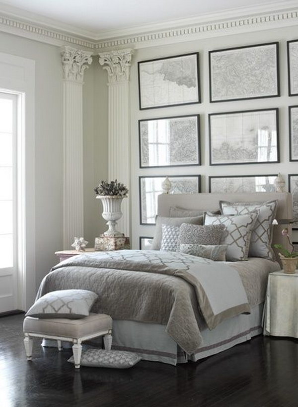 Creative ways to make your small bedroom look bigger hative for Grey and white bedroom designs