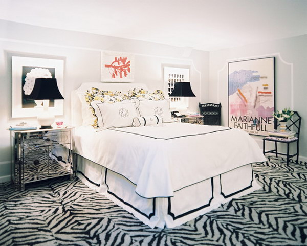 Choose Zebra print carpeting for a bigger impact.