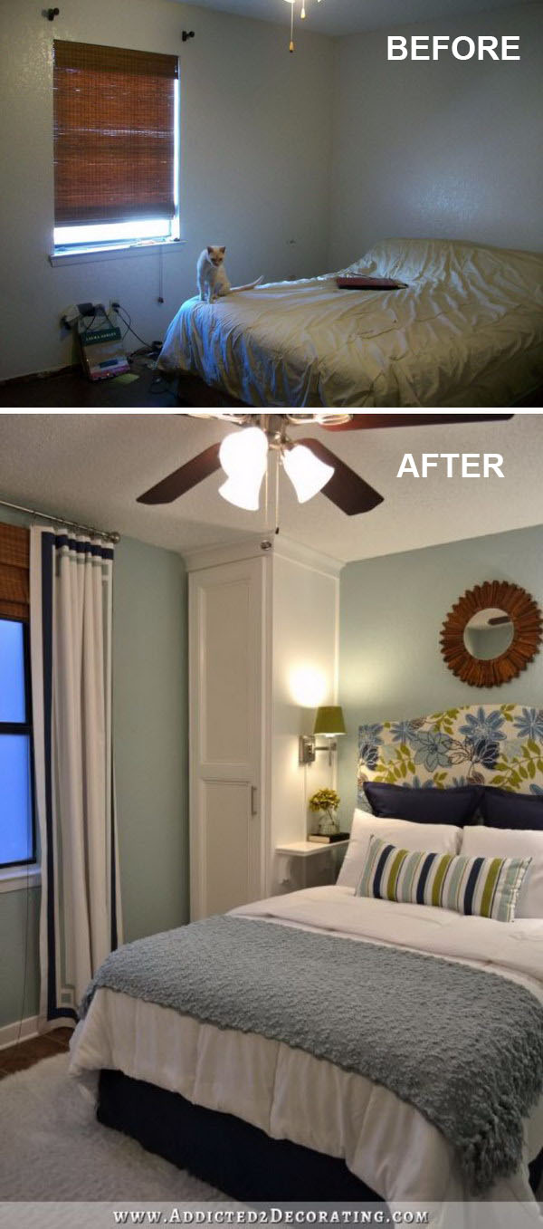 Creative ways to make your small bedroom look bigger hative for Small bedroom double bed ideas