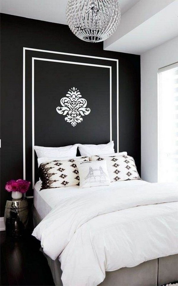 plain white bedroom