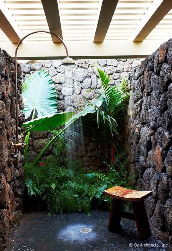 Tropical Outdoor Shower Ideas Part - 21: Tropical Outdoor Garden Shower