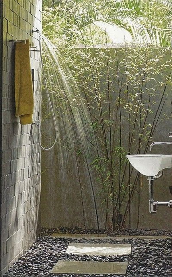Great Outdoor Shower Ideas For