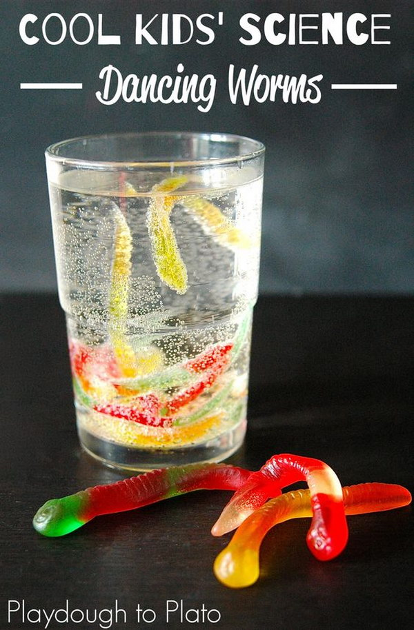 Use Baking Soda and Vinegar to Make Gummy Worms Dance.