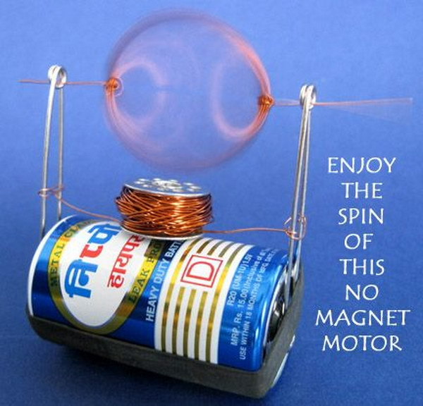 Make a Simple Electric Motor from Trash.