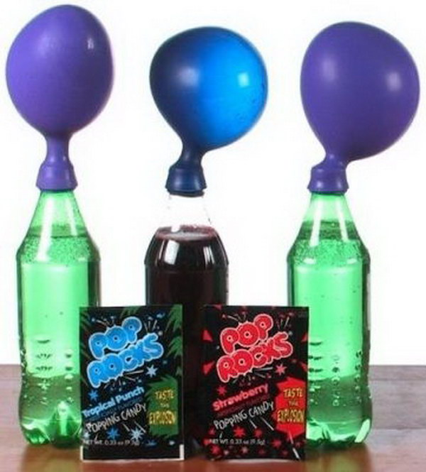 experiments science easy cool balloons blow pop rocks hative