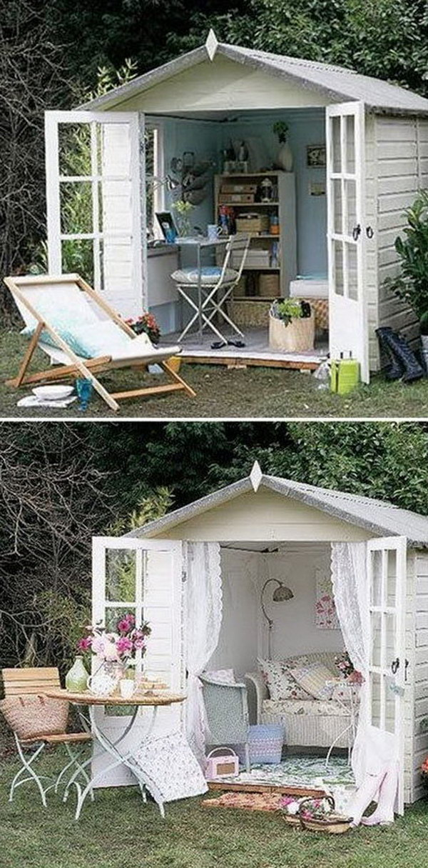 Amazing she shed ideas hative for Garden 50 designs to help you destress