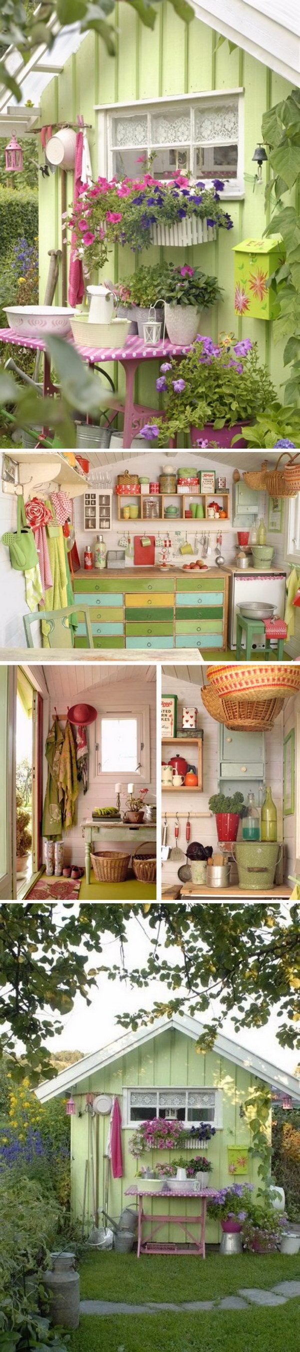 Sweet Little Green Potting Shed.