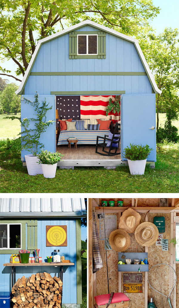Patriotic She Shed.