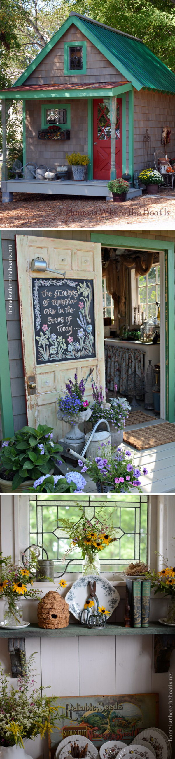 Spring Inspired Potting Shed.