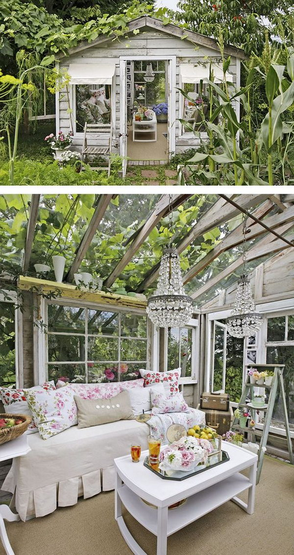Amazing she shed ideas hative for Deco shabby chic pas cher