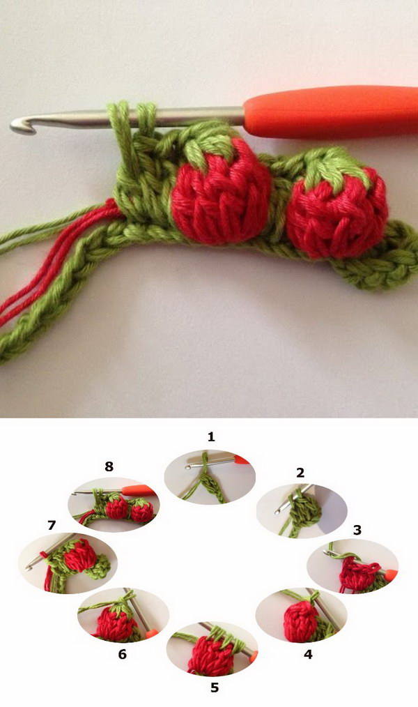 Strawberry Stitch Tutorial.