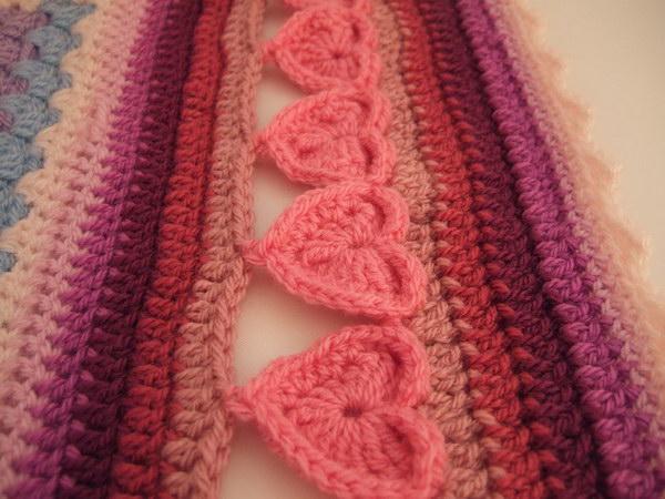 Line of Hearts Crochet Edging.
