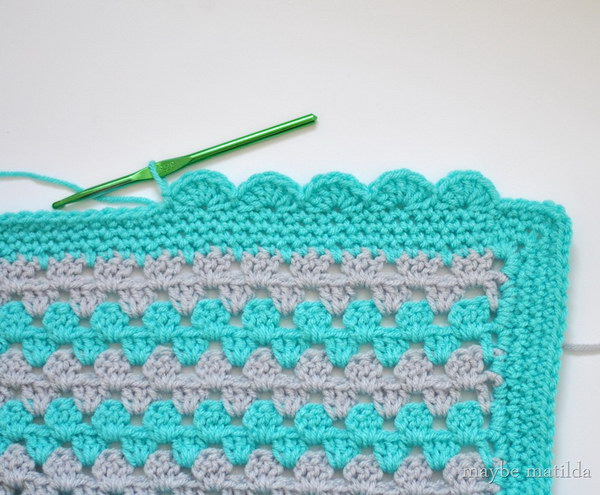 Crochet Baby Blanket Edging Tutorial : Lovely Crochet Edging Patterns & Ideas - Hative