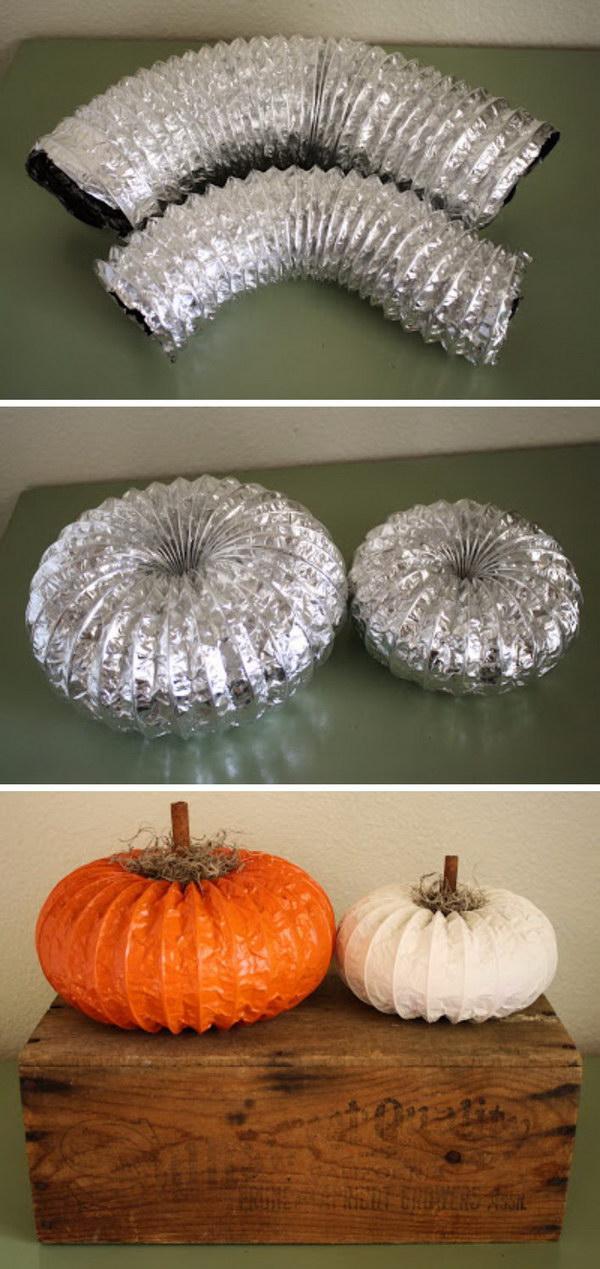Dryer Vent Pumpkin.