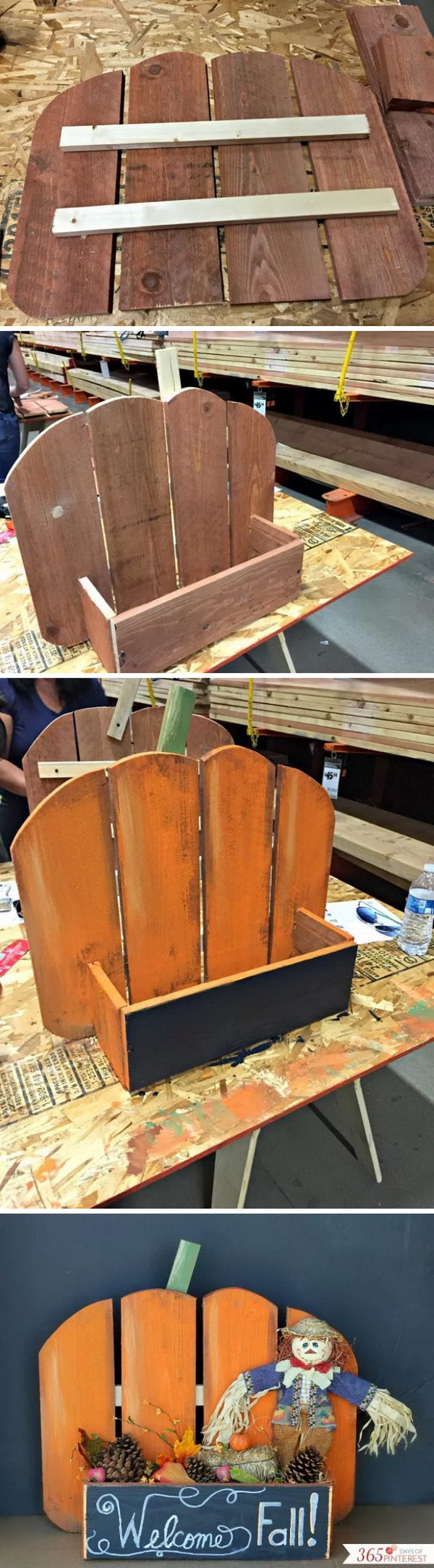 DIY Rustic Pumpkin Stand.