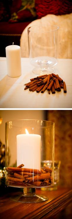 DIY Cinnamon Candle in a Jar.
