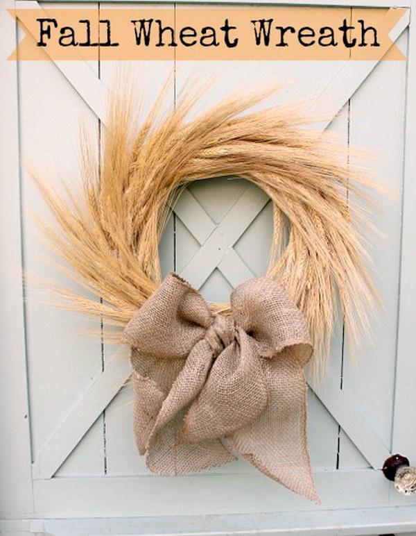 Fall Wheat Wreath.