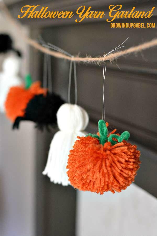Easy Halloween Garland from Yarn.