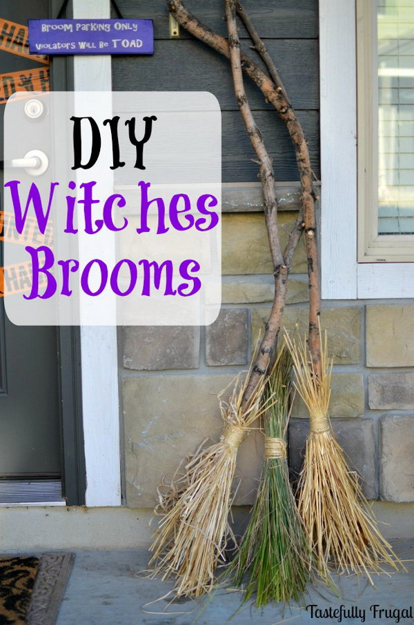Super Easy DIY Witches Brooms.