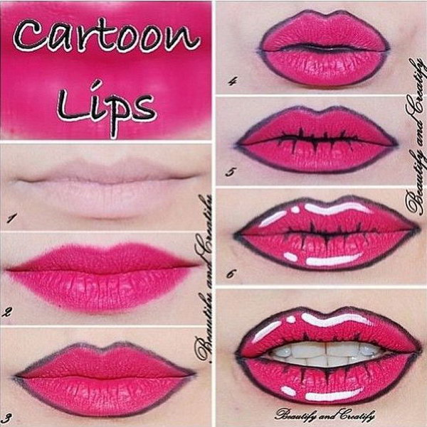 Lips for Harley Quinn.