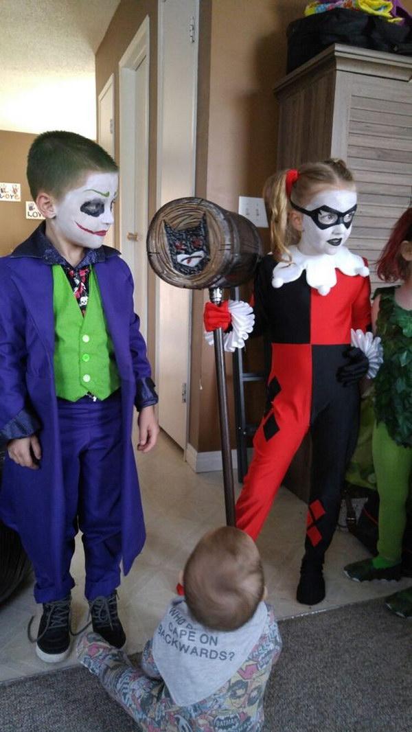 20 amazing harley quinn costume ideas hative harley quinn and the joker costume for kids solutioingenieria Images