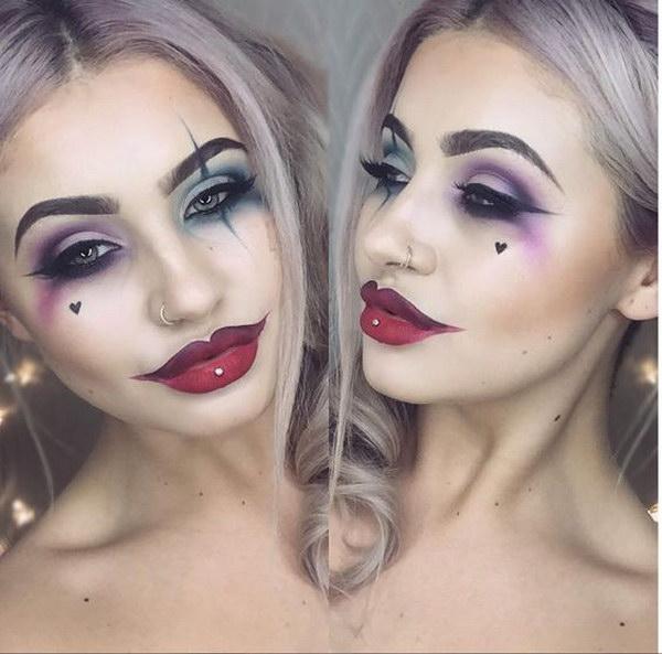Harley Quinn Face Makeup.