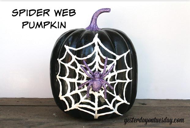 Spider Web Pumpkin.
