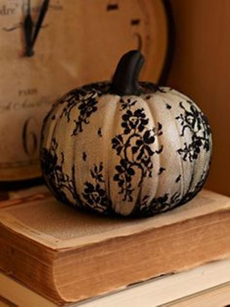 Lace Wrapped Pumpkin .