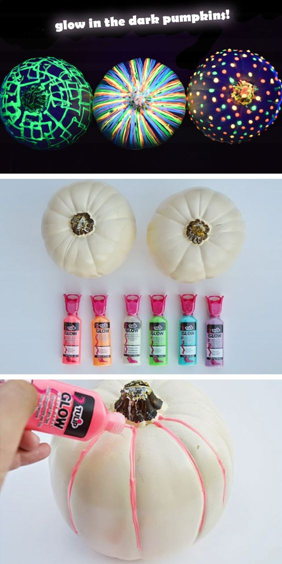 DIY Glow In The Dark Pumpkins.