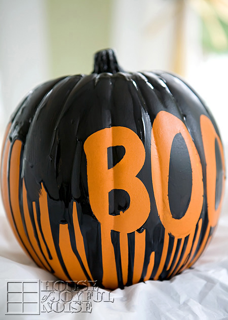 Dripping Paint Pumpkin.