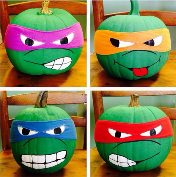 Teenage Mutant Ninja Turtle Pumpkins.