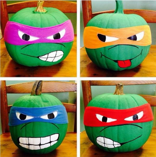 Teenage Mutant Ninja Turtle Pumpkins.
