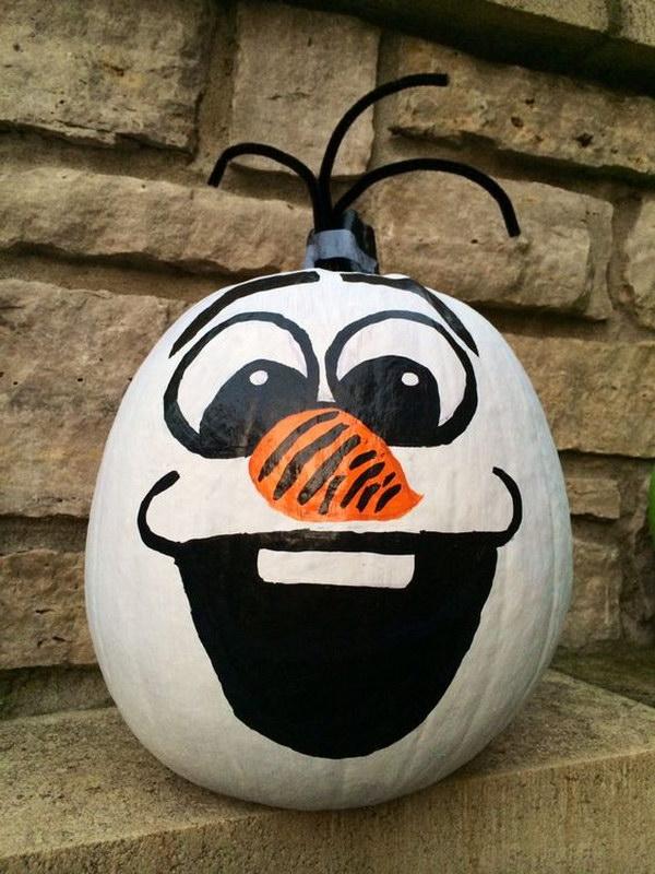 Pumpkin Painting Olaf.