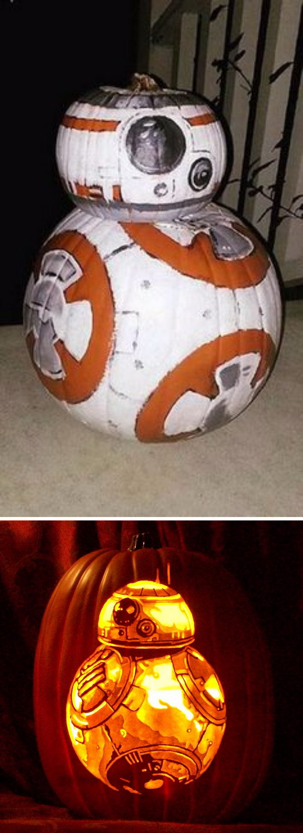 BB 8 Pumpkin for Star Wars Fans.