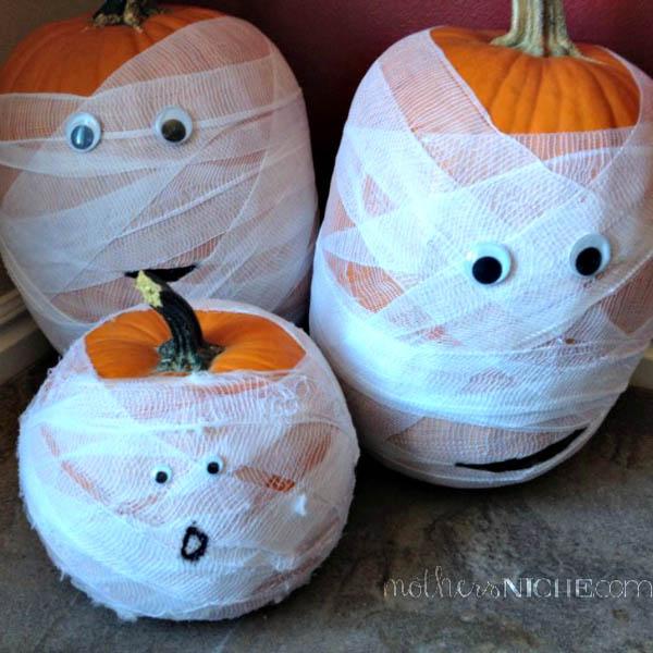 Mummy Pumpkins.