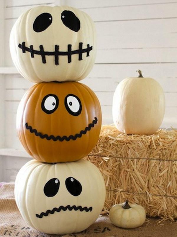 Halloween Jack O' Totem.