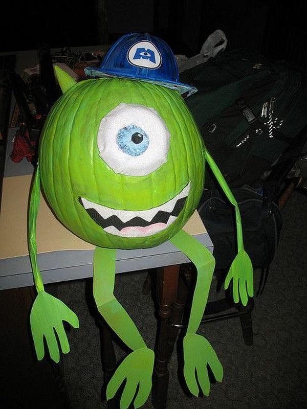 Monsters Inc. Pumpkin.