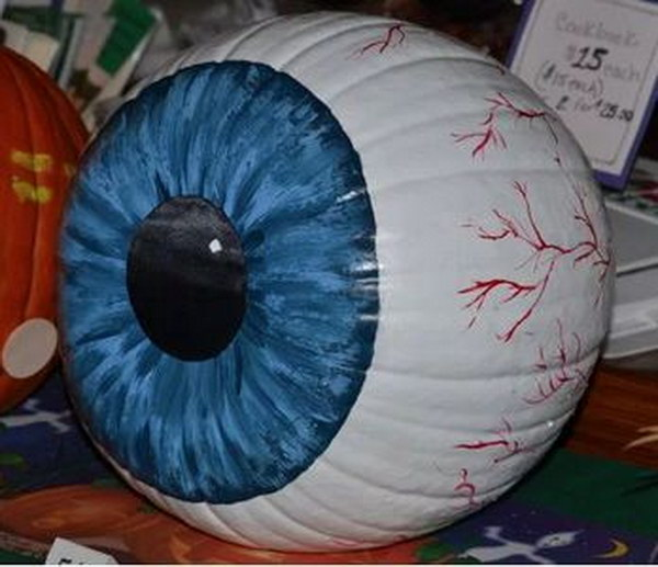 Freaky Eyeball Pumpkin.