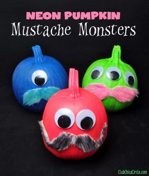 Neon Mustache Monsters.