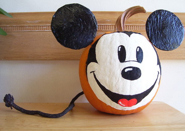 Mickey Mouse Pumpkin.