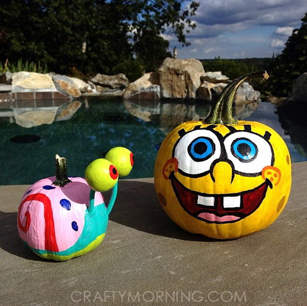 Spongebob and Gary Pumpkins .