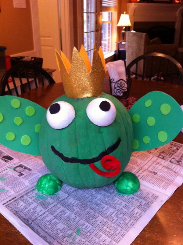 Frog Prince pumpkin.