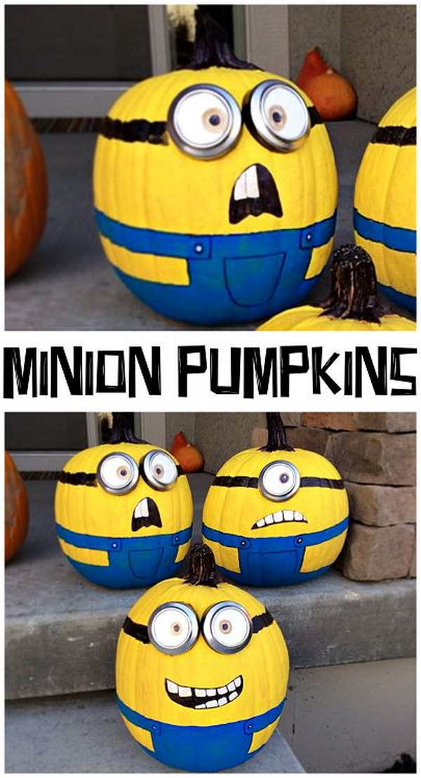 No Carve Minion Pumpkins.