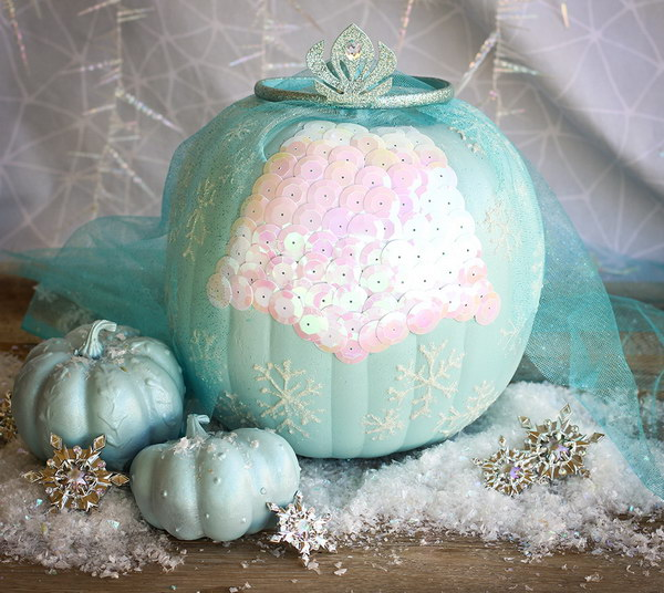 Elsa's Frozen Pumpkin.