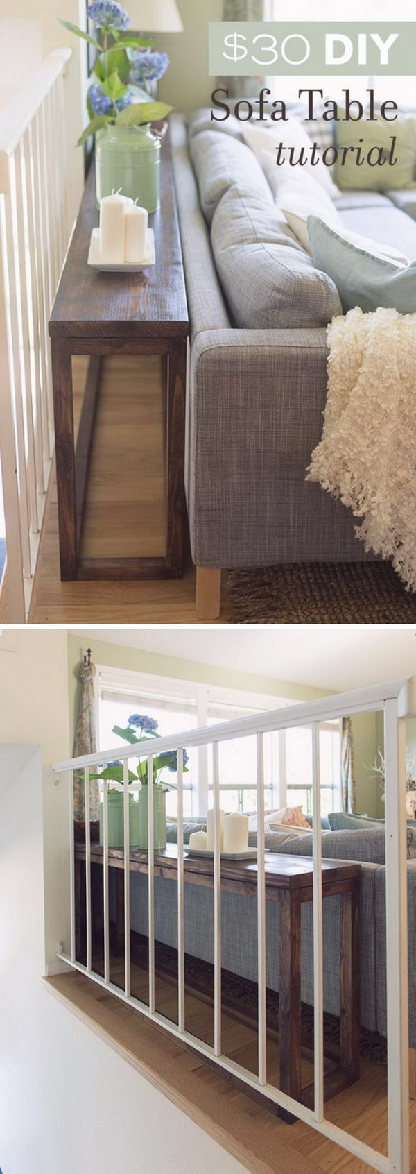 Great Ways To Make Use Of The Space Behind Couch For Extra - Console behind sofa