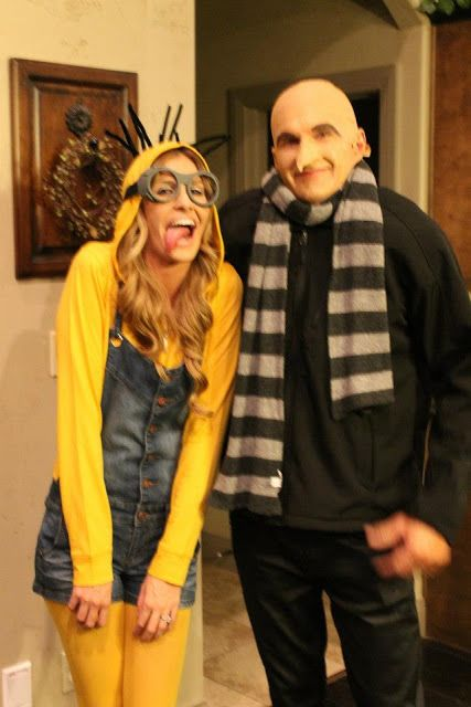 Doctor Gru and a Minion from Despicable Me.