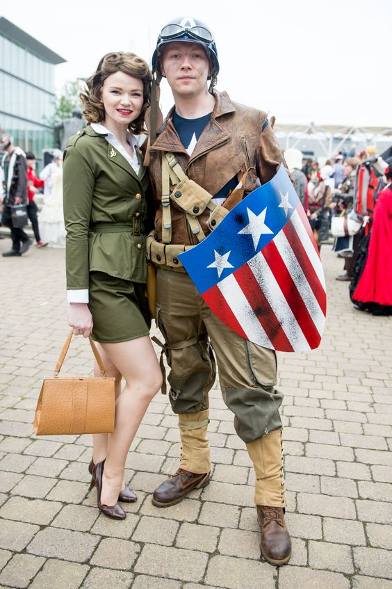 Peggy Carter and Captain America  sc 1 st  Hative & 60+ Cool Couple Costume Ideas - Hative