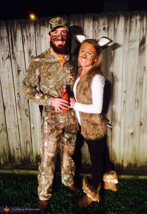 Hunter and Deer Couples Costume.